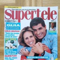 Coleccionismo de Revistas y Periódicos: REVISTA SUPERTELE 36 MERCEDES MILA PEDRO RUIZ MELROSE PLACE TINY TOONS AGASSI MAGIC JOHNSON ABIGAIL. Lote 263801315