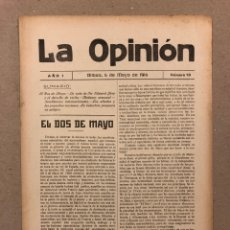 Coleccionismo de Revistas y Periódicos: SEMANARIO LA OPINIÓN N° 13 (BILBAO 1916). PUBLICACIÓN LIBERAL CREADA POR GREGORIO DE BALPARDA. Lote 264032725