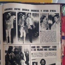 Collectionnisme de Revues et Journaux: URSULA ANDRESS RYAN ONEAL KABIR BEDI SANDOKAN JOAN ANGLADA. Lote 264048510