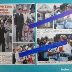 Coleccionismo de Revistas y Periódicos: PRINCIPES GALES - DIANA LADY DI- CON VIKINGOS ISLAS SHETLAND - RECORTE 3 PAG.-AÑO 1986. Lote 264188828
