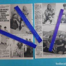 Coleccionismo de Revistas y Periódicos: CHICHO IBAÑEZ SERRADOR Y DIANA- ANA DIOSADO Y CARLOS LARRAGAÑA -ENTREVISTA- RECORTE 2 PAG.-AÑO 1986. Lote 264191916