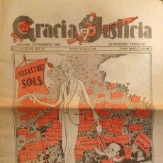 Collectionnisme de Revues et Journaux: GRACIA Y JUSTICIA, AÑO 1932. EL PRESIDENT MACIÀ EN PORTADA.. Lote 264276744