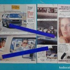 Coleccionismo de Revistas y Periódicos: PRINCIPES GALES -DIANA LADY DI- EN MALLORCA CON FURGONETA VOLKSWAGEN - RECORTE 3 PAG -AÑO 1986. Lote 264465389
