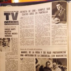 Coleccionismo de Revistas y Periódicos: ENRIQUE MARTI MAQUEDA LAS MARIONETAS DE MANUEL DE LA ROSA. Lote 278640083