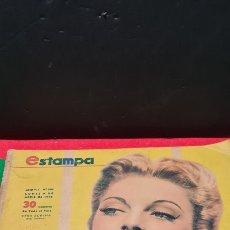 Coleccionismo de Revistas y Periódicos: IMPRESIONANTE ANTIGUA REVISTA ESTAMPA N°346. ABRIL 1945. CON MODA, NOTICIAS Y ANUNCIOS PUBLICITARIOS. Lote 265768054