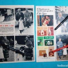 Coleccionismo de Revistas y Periódicos: PRINCIPES MONACO- RAINIERO GRACE KELLY Y ESTEFANIA DE 5 AÑOS EN ROMA - RECORTE 2 PAG- AÑO 1970. Lote 265857074