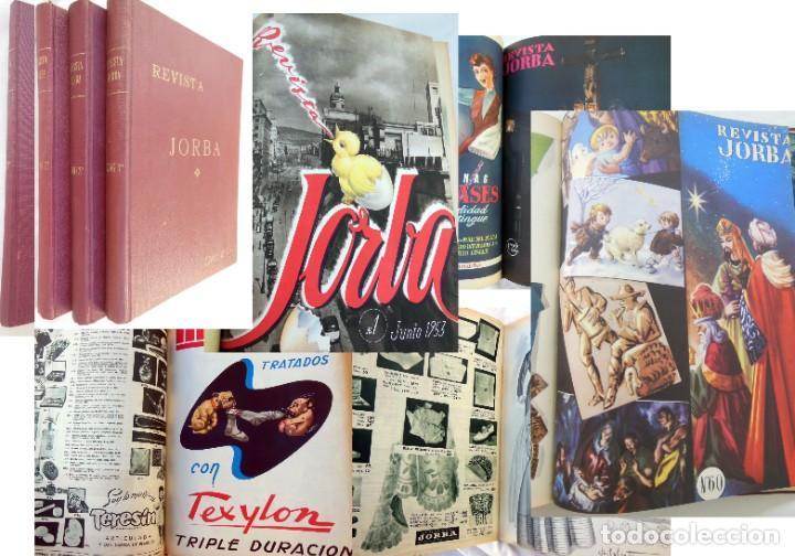 REVISTA JORBA. 4 TOMOS. DEL NÚMERO 1 AL 60 (INCLUIDOS) JUNIO 1953 A ENERO 1961 (Coleccionismo - Revistas y Periódicos Modernos (a partir de 1.940) - Otros)