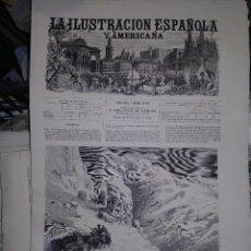 Coleccionismo de Revistas y Periódicos: LA ILUSTRACION ESPAÑOLA Y AMERICANA PUERTO DE PAJARES. Lote 266367613