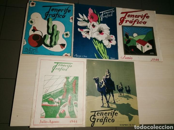 LOTE ANTIGUAS, MUY ESCASAS Y DIFÍCILES REVISTAS, TENERIFE GRÁFICO. NÚMEROS 2,3,4,5,6. AÑO 1944 (Coleccionismo - Revistas y Periódicos Modernos (a partir de 1.940) - Otros)