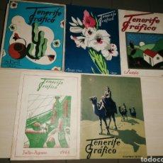 Coleccionismo de Revistas y Periódicos: LOTE ANTIGUAS, MUY ESCASAS Y DIFÍCILES REVISTAS, TENERIFE GRÁFICO. NÚMEROS 2,3,4,5,6. AÑO 1944. Lote 266452828
