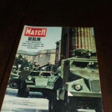 """Coleccionismo de Revistas y Periódicos: PARIS MATCH - Nº 646 - 1961 - """"BERLIN"""". Lote 267066309"""