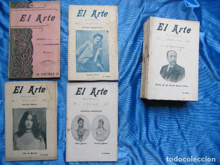 17 REVISTAS. REVISTA HEBDOMADARIA EL ARTE. DEL Nº 2 AL Nº 24. COMPLETAS. 1899. (Coleccionismo - Revistas y Periódicos Antiguos (hasta 1.939))