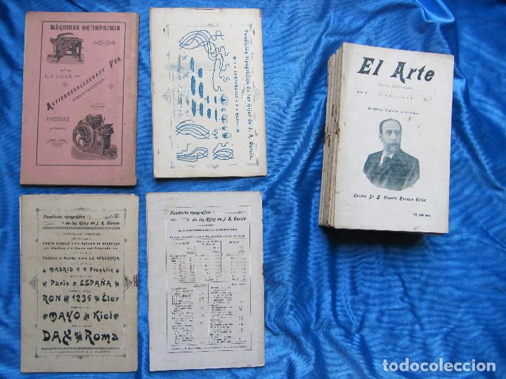 Coleccionismo de Revistas y Periódicos: 17 REVISTAS. REVISTA HEBDOMADARIA EL ARTE. DEL Nº 2 AL Nº 24. COMPLETAS. 1899. - Foto 2 - 267089999