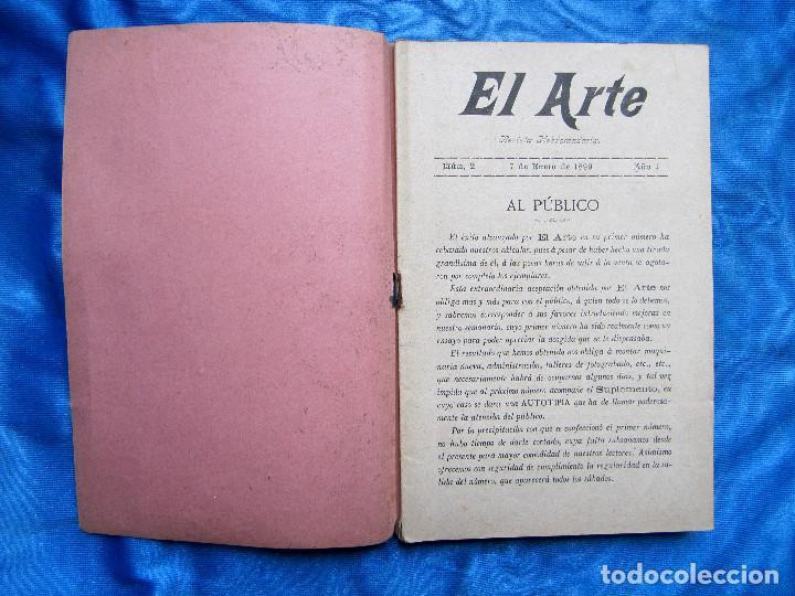 Coleccionismo de Revistas y Periódicos: 17 REVISTAS. REVISTA HEBDOMADARIA EL ARTE. DEL Nº 2 AL Nº 24. COMPLETAS. 1899. - Foto 3 - 267089999