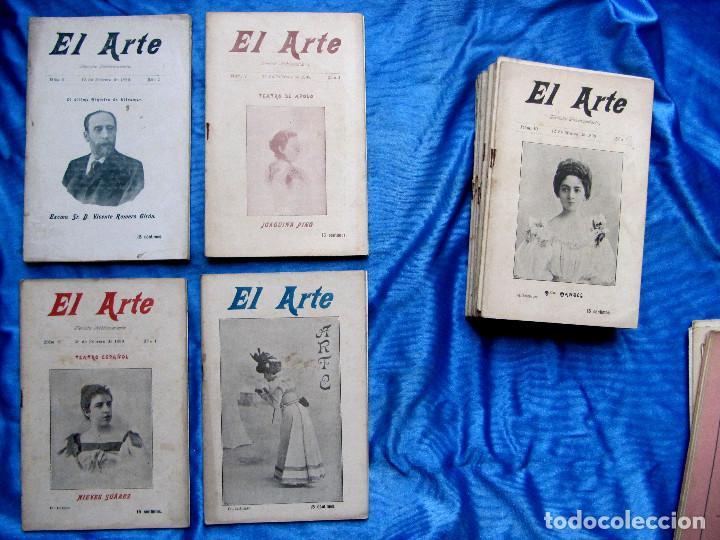 Coleccionismo de Revistas y Periódicos: 17 REVISTAS. REVISTA HEBDOMADARIA EL ARTE. DEL Nº 2 AL Nº 24. COMPLETAS. 1899. - Foto 7 - 267089999