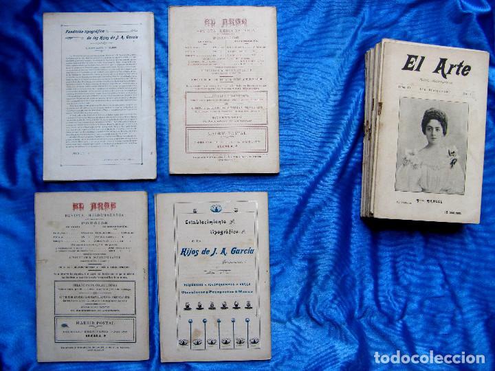 Coleccionismo de Revistas y Periódicos: 17 REVISTAS. REVISTA HEBDOMADARIA EL ARTE. DEL Nº 2 AL Nº 24. COMPLETAS. 1899. - Foto 8 - 267089999