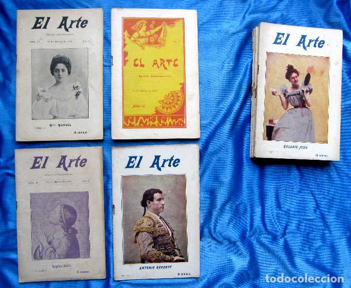 Coleccionismo de Revistas y Periódicos: 17 REVISTAS. REVISTA HEBDOMADARIA EL ARTE. DEL Nº 2 AL Nº 24. COMPLETAS. 1899. - Foto 9 - 267089999