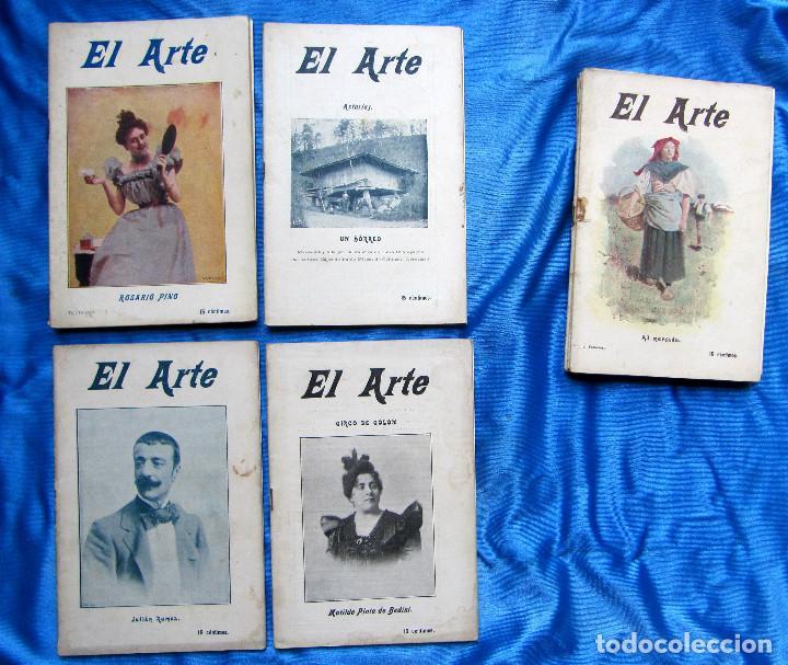 Coleccionismo de Revistas y Periódicos: 17 REVISTAS. REVISTA HEBDOMADARIA EL ARTE. DEL Nº 2 AL Nº 24. COMPLETAS. 1899. - Foto 11 - 267089999