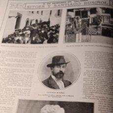 Coleccionismo de Revistas y Periódicos: SITGES Y SANTIAGO RUSIÑOL . EL XXV ANIVERSARIO DEL CAU-FERRAT. HOJA AÑO 1918. Lote 267129809