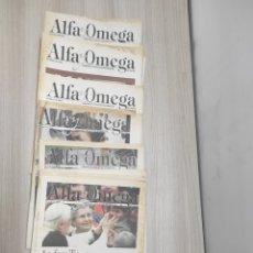 Coleccionismo de Revistas y Periódicos: 16 REVISTAS ALFA Y OMEGA REVISTA SEMANARIO CATÓLICO DE INFORMACIÓN AÑO 2008. DESDE N° 574 A N°616. Lote 267640909