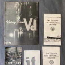 Coleccionismo de Revistas y Periódicos: ANTIGUOS FOLLETOS AMERICANOS PARA LA PREVENCION DE ENFERMEDADES SEXUALES , 1942. Lote 267724509