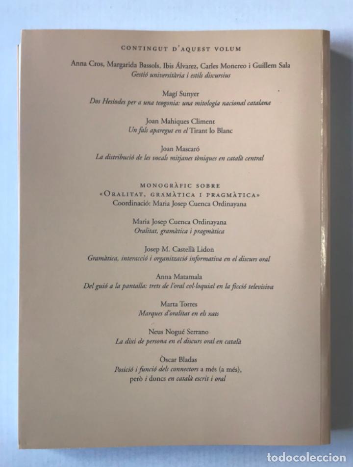 Coleccionismo de Revistas y Periódicos: CAPLLETRA. REVISTA INTERNACIONAL DE FILOLOGIA. Núm. 44. - [REVISTA.] - Foto 6 - 268293864