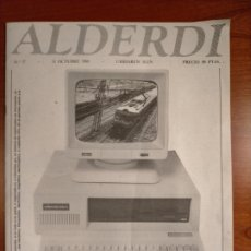 Coleccionismo de Revistas y Periódicos: REVISTA ALDERDI EL TREN DEL 93 POR EL RESURGIMIENTO ECONÓMICO DE EUZKADI. N° 17 DE 1988. PNV. Lote 268311699