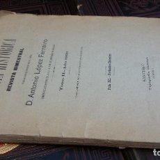 Coleccionismo de Revistas y Periódicos: 1903 - LÓPEZ FERREIRO - GALICIA HISTÓRICA. REVISTA BIMESTRAL. TOMO II. Lote 268312899