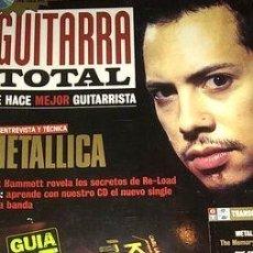 Coleccionismo de Revistas y Periódicos: REVISTA GUITARRA TOTAL N1 METALLICA HAMMET THE SMITHS OASIS ED. 1998. Lote 268358739