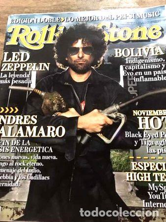 REVISTA ROLLING STONE ANDRES CALAMARO (Coleccionismo - Revistas y Periódicos Modernos (a partir de 1.940) - Otros)