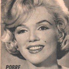 Coleccionismo de Revistas y Periódicos: REVISTA ANTENA MUERE MARILYN MONROE ANO 1962 KARADAGIAN. Lote 268367834