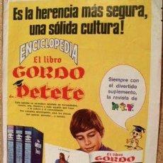 Coleccionismo de Revistas y Periódicos: RECORTE CLIPPIN PUBLICIDAD LIBRO GORDO PETETE 1970 ED. 1975. Lote 268377869