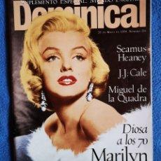 Coleccionismo de Revistas y Periódicos: MARILYN MONROE - EL DOMINICAL - 26 05 1996. Lote 268618404