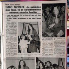 Coleccionismo de Revistas y Periódicos: CHABELI ENRIQUE JULIO JOSE IGLESIAS ISABEL PREYSLER. Lote 268730284