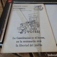 Collectionnisme de Revues et Journaux: TRANSICION ,PANFLETO , REVISTA PRENSA LIBRE ESTUDIANTIL ORGANIZACION DEMOCRATICA ANTIFASCISTAS. Lote 268763539