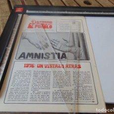 Coleccionismo de Revistas y Periódicos: TRANSICION ,PANFLETO , REVISTA SERVIR AL PUEBLO ORGANO COMITE CENTRAL DEL MOVIMIENTO COMUNISTA. Lote 268765209
