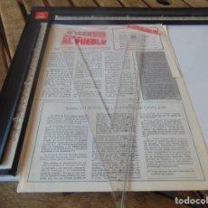 Coleccionismo de Revistas y Periódicos: TRANSICION ,PANFLETO , REVISTA SERVIR AL PUEBLO ORGANO COMITE CENTRAL DEL MOVIMIENTO COMUNISTA. Lote 268765439
