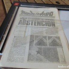 Coleccionismo de Revistas y Periódicos: TRANSICION ,PANFLETO , REVISTA MUNDO OBRERO ORGANO COMITE CENTRAL PARTIDO COMUNISTA DE ESPAÑA. Lote 268765889