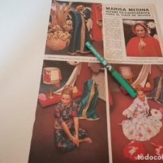 Coleccionismo de Revistas y Periódicos: MARISA, MEDINA REVERSO VAJILLA DURALEX 2000 RECORTE REVISTA 1970. Lote 268888794