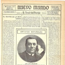 Coleccionismo de Revistas y Periódicos: 1913 HOJA REVISTA ARTISTA ACTOR JUAN BALAGUER. Lote 268915009