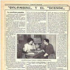 Coleccionismo de Revistas y Periódicos: 1913 HOJA REVISTA MADRID ENTREVISTA A CARMEN DE BURGOS SEGUÍ 'COLOMBINE' ESCRITORA, CATEDRÁTICA. Lote 268915344