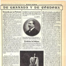 Coleccionismo de Revistas y Periódicos: 1913 HOJA REVISTA GRANADA BENITO DEL CAMPO GOBERNADOR CIVIL NTRA SRA. DE LAS ANGUSTIAS PATRONA. Lote 268915494