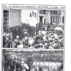 Coleccionismo de Revistas y Periódicos: HOJA REVISTA VALENCIA SUECA LÁPIDA EN MEMORIA DEL JUEZ LÓPEZ DE RUEDA ASESINADO EN CULLERA. Lote 268917719