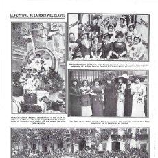 Coleccionismo de Revistas y Periódicos: HOJA REVISTA VALENCIA FIESTAS FESTIVAL DE LA ROSA Y EL CLAVEL, CARROZAS, DAMAS, NIÑAS ESCUELAS. Lote 268917839