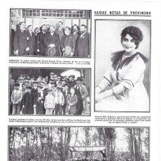 Coleccionismo de Revistas y Periódicos: HOJA REVISTA LOGROÑO HARO INAUGURACIÓN OBRAS TREN FERRROCARRIL DE HARO A EZCARAY MINISTRO VILLANUEVA. Lote 268917934