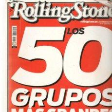 Coleccionismo de Revistas y Periódicos: ROLLING STONE. Nº 131. LOS 50 GRUPOS MÁS GRANDES DEL ROCK. SEPTIEMBRE, 2010. (B/58). Lote 268965284
