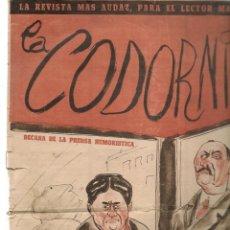 Coleccionismo de Revistas y Periódicos: LA CODORNIZ. Nº 809. 19 MAYO 1957. (B/58). Lote 268968674