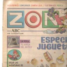 Coleccionismo de Revistas y Periódicos: ZONA DISNEY. ABC. Nº 43. ESPECIAL JUGUETES. 15 DICIEMBRE 2002. (B/58). Lote 268969764