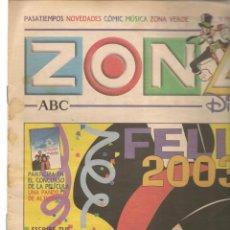 Coleccionismo de Revistas y Periódicos: ZONA DISNEY. ABC. Nº 45. FELIZ 2003. 29 DICIEMBRE 2002. (B/58). Lote 268970004