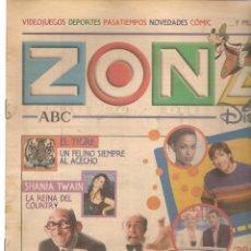 Coleccionismo de Revistas y Periódicos: ZONA DISNEY. ABC. Nº 50. SHANIA TWAIN / MORTADELO Y FILEMÓN. 2 FEBRERO 2003. (B/58). Lote 268970944